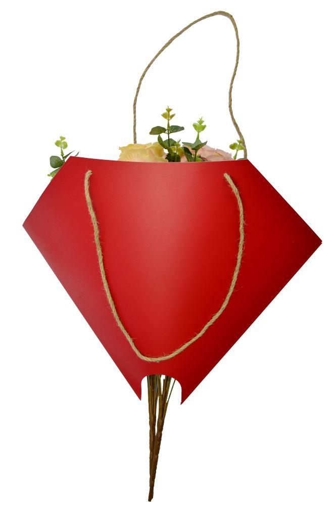 Bolso Bouquet Redondo Rojo Oscuro