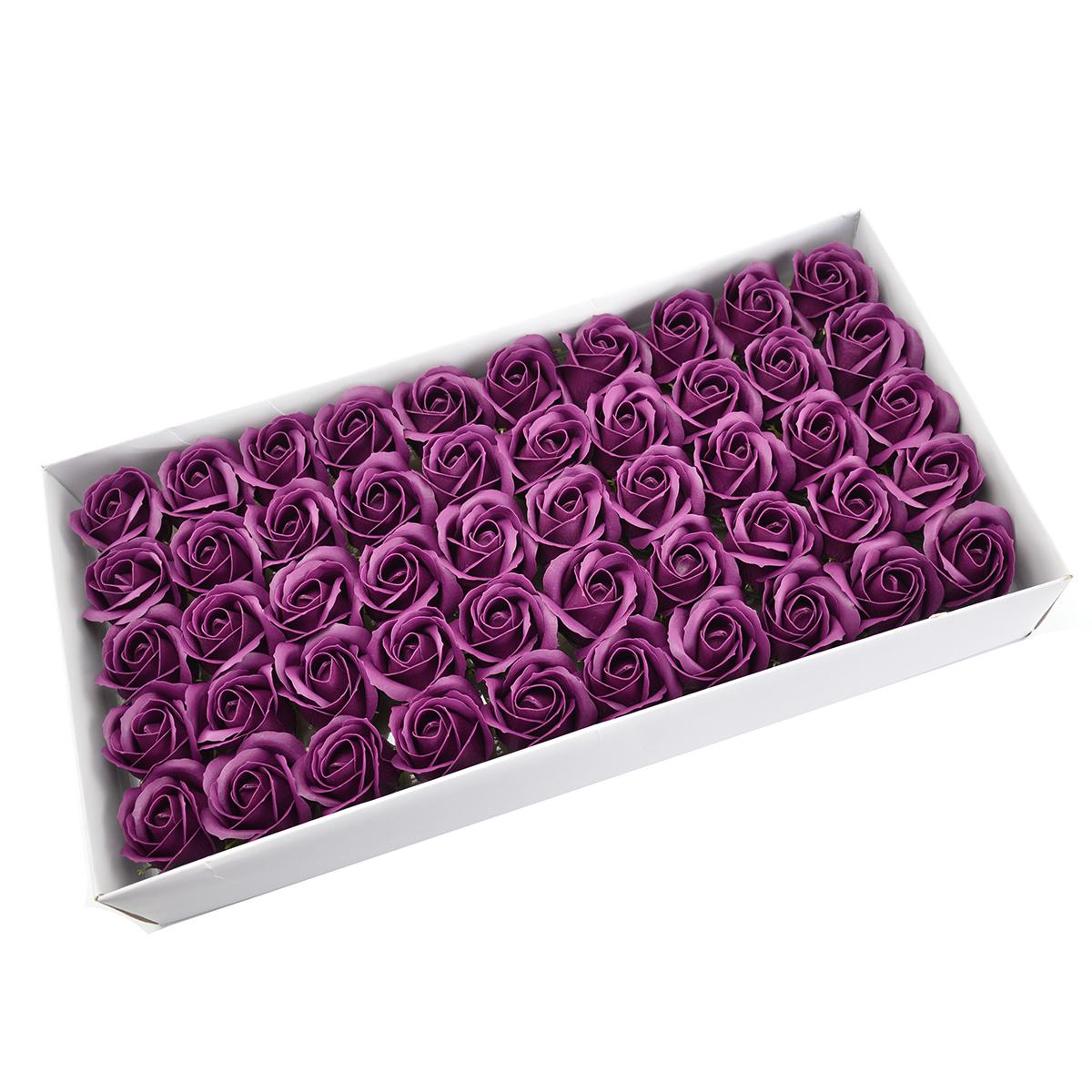 Juego de 50 rosas de jabón aromáticas, toque real, marsalla