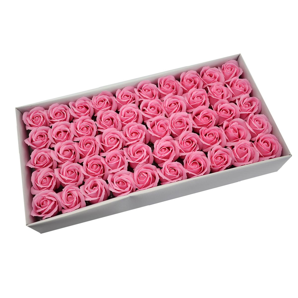 Juego de 50 rosas de jabón aromáticas, toque real, rosa