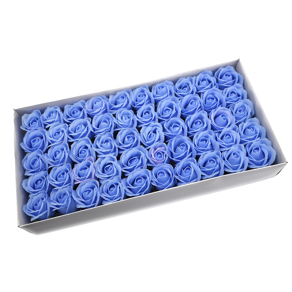 Juego de 50 rosas de jabón aromáticas, toque real, bleo
