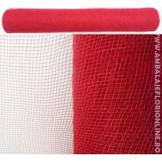 Malla de plástico rojo simple