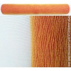 Malla de plástico simple rojo con dorado