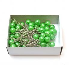 Agujas 10 mm x 6,5 cm 50 piezas verde oscuro