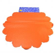 Celofán Redondo 60CM Lunares naranja
