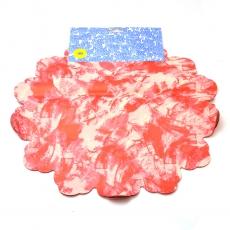 Celofán Redondo 40CM Mancha Roja con Crema