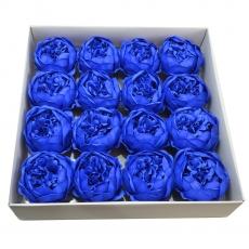 Set 16pcs grandes peonías de jabón perfumadas real blue touch