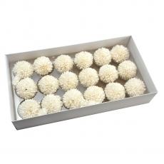Conjunto de 18 piezas de jabón aromático crisantemos real touch white