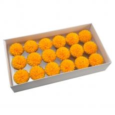 Juego de 18 piezas de jabón aromático crisantemos real touch naranja