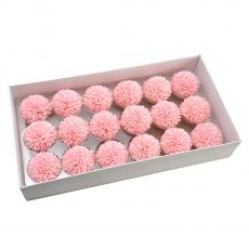 Conjunto de 18 piezas de jabón aromático crisantemos real touch rosa