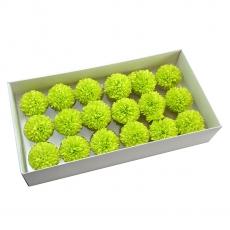 Conjunto de 18 piezas de jabón aromático crisantemos real toque verde