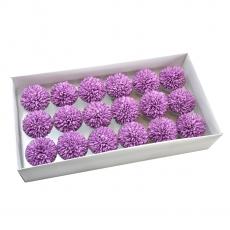 Conjunto de 18 piezas de jabón aromático crisantemos real touch violeta