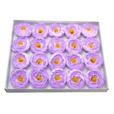 Juego de 20 piezas de jabón aromático ranunculus real touch lilac 23-28