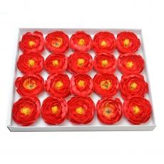 Set 20 piezas ranunculus de jabón fragante toque real rojo 23-29