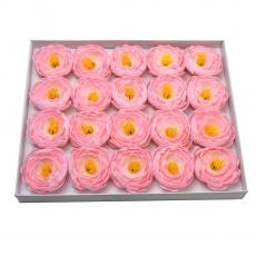 Juego de 20 piezas de jabón aromático ranunculus real touch pink