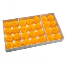 Juego de 28 piezas de delicioso jabón fragante dalia con un toque real de naranja