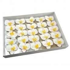 Juego de 25 piezas de jabón aromático cabezas de orquídeas toque real 23-17