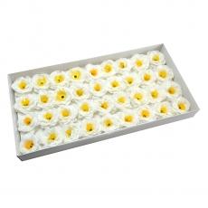 Conjunto de 36 piezas de camelias de jabón aromático con un toque blanco real