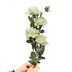 Rosa de terciopelo gigante con tallo blanco largo