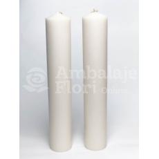Velas de boda cilíndricas cortas 40CM / 7CM