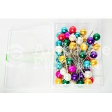 Agujas 10 mm x 6,5 cm 50 piezas Colores mezclados
