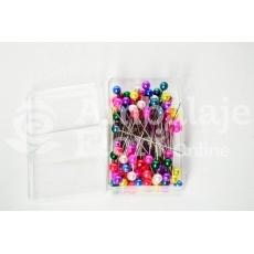Agujas 4 mm x 4 cm 100 piezas Colores mezclados