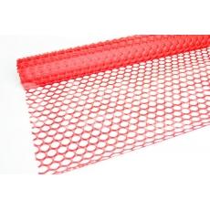 Malla de encaje circular roja