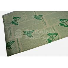 Papel Kraft Periódico Mariposas Verdes