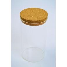 Cilindro de vidrio 15cm x 8cm