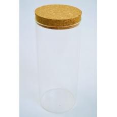 Cilindro de vidrio 20cm x 8cm