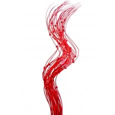 Palitos de perlas rojas