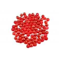 Perlas de color rojo mezclado