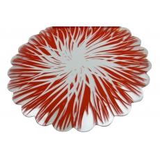 Celofán rojo llamas rojo con blanco