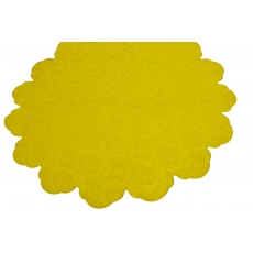 Celofán Redondo 60CM Flores Amarillas