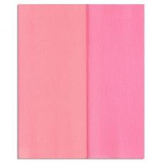 Papel crepé Gloria Doublette rosa claro-rosa, código 3317
