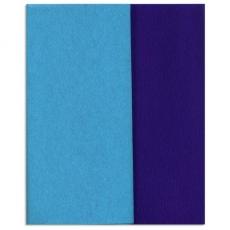 Papel crepé Gloria Doublette azul-azul, código 3320