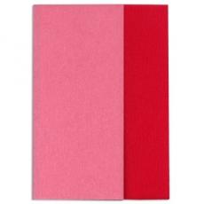 Papel crepé Gloria Doublette rosa oscuro-rojo, código 3333