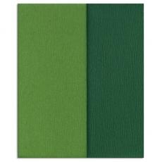 Papel crepé Gloria Doublette verde musgo, código 3340