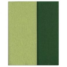 Papel crepé Gloria Doublette verde lima-verde musgo, código 3341