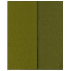 Papel crepé Gloria Doublette oliva-oliva claro, código 3343