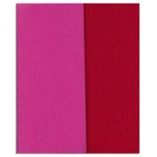 Papel crepé Glitter Doublette carmín rosa-rojo, código 3350