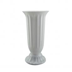 Florero suelo 18x38 cm blanco perla