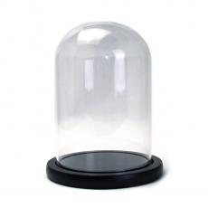 Tazón de vidrio tipo cúpula Soporte de madera 17x12cm código: 21-83