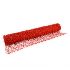 Malla de encaje rojo