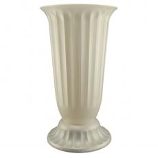 Florero suelo 27x50 cm blanco perla