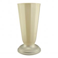 Florero suelo 23x49 cm blanco perla