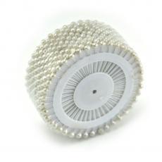 Agujas pequeñas de 4 mm de color blanco perla