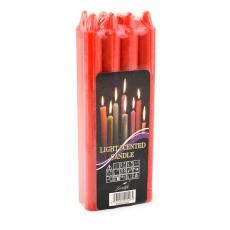 Juego de 8 velas rojas H18 código: 21-85