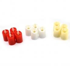 Juego de 12 velas led de colores mezclados toque real
