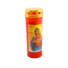 Vela led de plástico rojo 16x6 cm