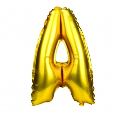 Globo hinchable dorado 55 cm letra A